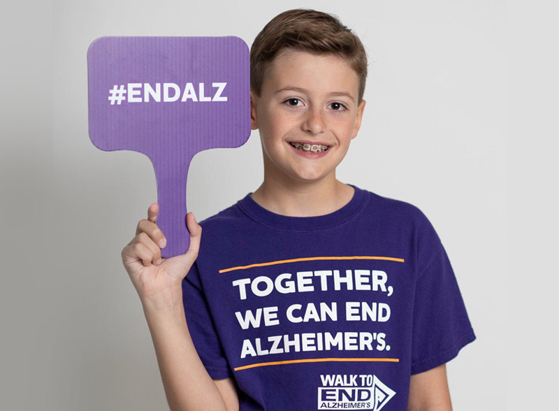Primex Family of Companies - End Alzheimers Image of Young Fundraiser